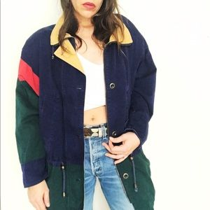 90's French Country Express Color Block Jacket ⛲️